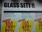 Glass sett