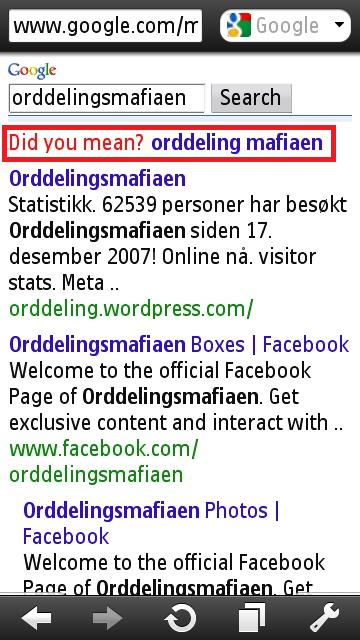 orddelings mafian google fail..Lars Christian